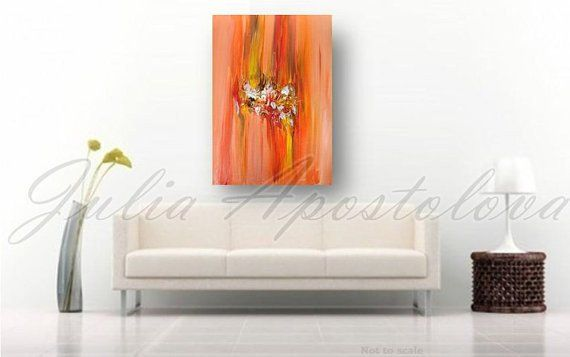 JuliaApostolova - Orange wall art #home #design #homedesign #paintinh #interior #art #sisustus #taide #taulu #sisustaminen #sisustusidea #interiordesign #inredning