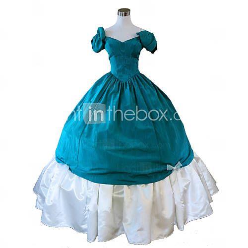 steampunk®green občanská válka jižní šaty belle plesové šaty viktoriánské šaty halloween party dress 4357855 2016 – $102.39
