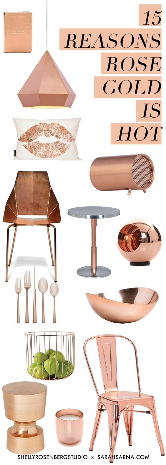22 best copper rose gold kitchen accessories images on for Room decor rose gold