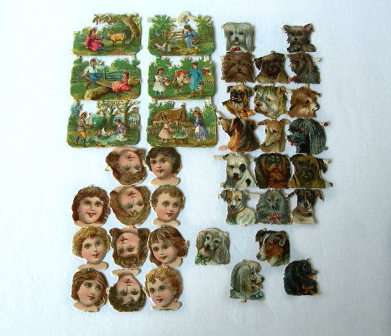Lot of  38 Pieces  Original Victorian Die by MargsMostlyVintage