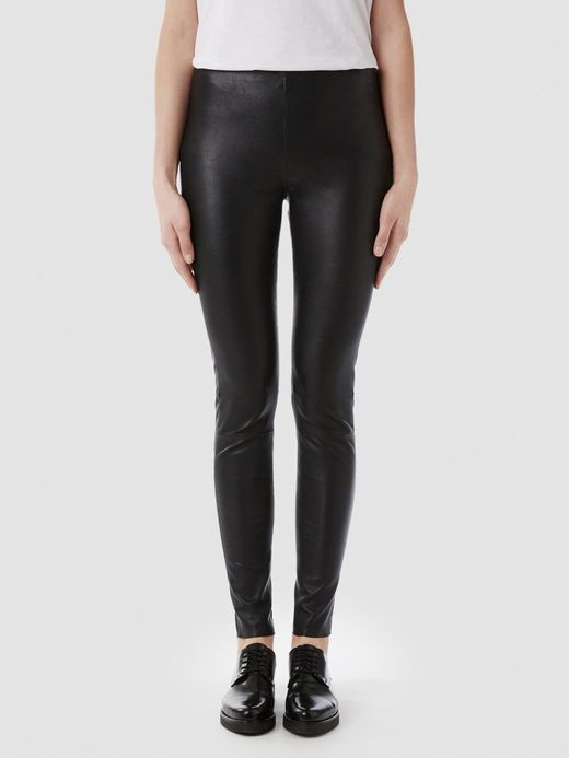 STRETCH LÆDER LEGGINGS, Black