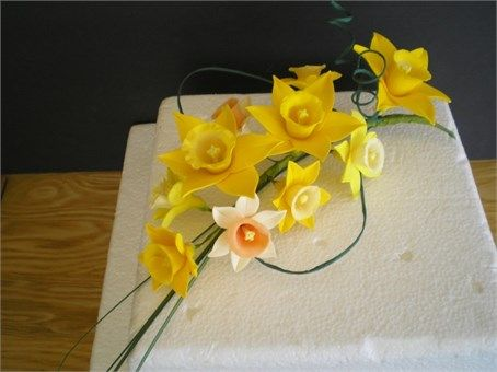 Cake Flowers Daffodils -