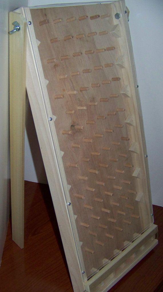 Solid hardwood tabletop plinko game board New by WoodGamesPlus