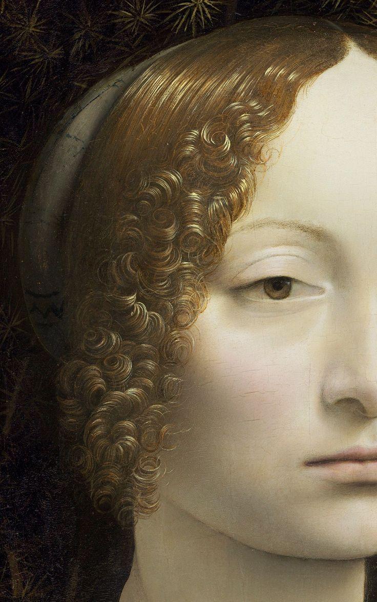 "adreciclarte: ""Ginevra de' Benci, 1474 by Leonardo da Vinci (detail) """