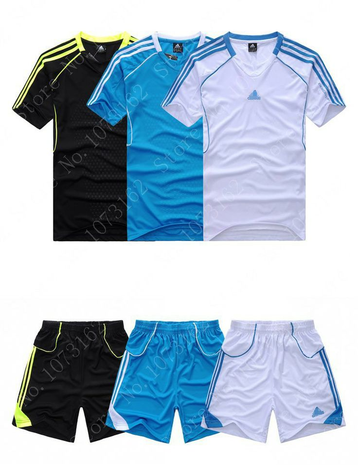 1Set Man Football Short Sleeve T-Shirt + Shorts Men Soccer Sweatpants Boy Sports Tracksuit Sportwear Athletic Warm Up Training $27.99
