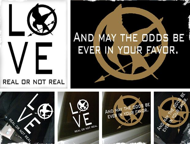 $6.99 The Hunger Games Mockingjay Vinyl Quotes - 2 Options! 10 Colors! Ships In Time For Movie Release! at VeryJane.com