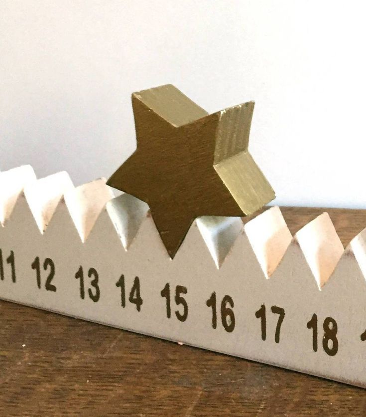 Advent Calendar with star woodworking …