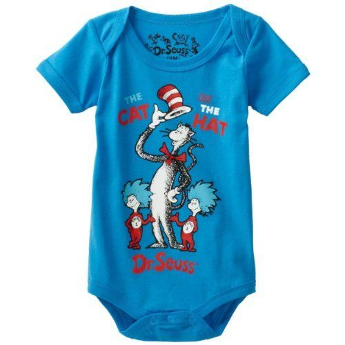 Dr. Seuss The Cat in the Hat Thing 1  Thing 2 Infant Boys Bodysuit Size 3M-24M  Price : $11.99 http://www.yankeetoybox.com/Dr-Seuss-Infant-Bodysuit-3M-24M/dp/B008VEB0FQ