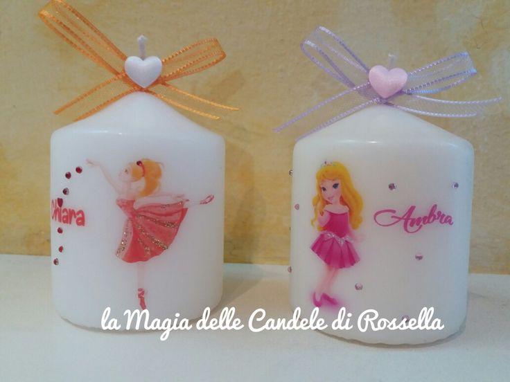 candela personalizzata ballerina principessa