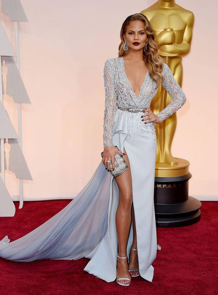 Christy Teigen looking flawless in Zuhair Murad // Celebrity inspiration for weddings