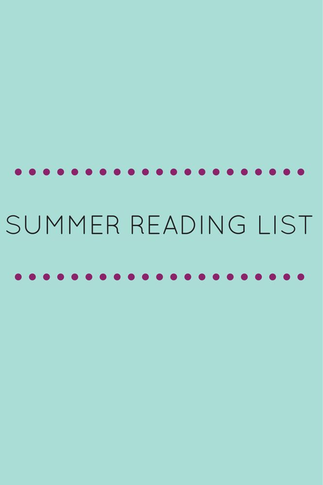Books to read this summer! | gold&hearts