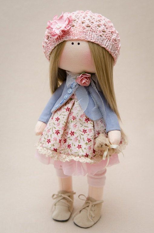 Reserved for Manal-Fabric Handmade Doll Lulu
