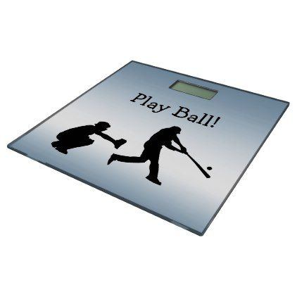 #Play Ball Blue Sports Baseball Bathroom Scale - #Bathroom #Accessories #home #living