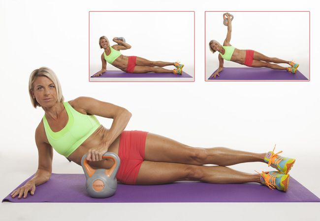 Work your abs, arms and shoulders with this side plank and shoulder press. TRY IT TODAY!