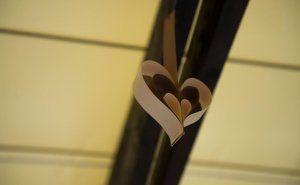 DIY paper hearts as a wedding decor http://ladiy.cafeblog.hu/ #diy #interior #design #craft #home #decor #wedding