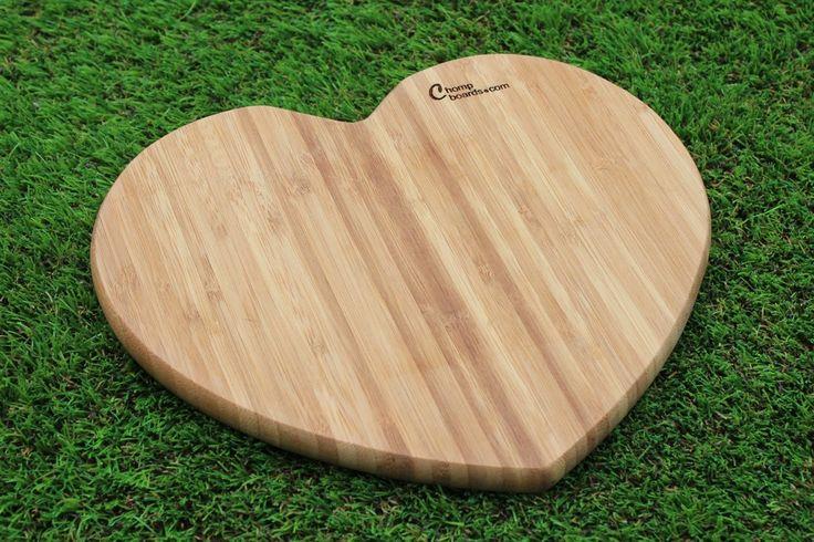 KEEP CALM Heart Shape Personalised Chopping Board
