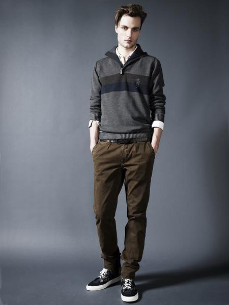 Коричневые джинсы мужские зауженные