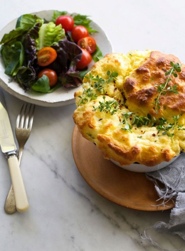 Simple Cheese & Herb Soufflé - This week's Green Mondays recipe from Kelly Gibney is a cheese soufflé, which is both marvellously simple and a little bit fancy. It's perfect for those weeknights when the cupboards are looking a little bare.