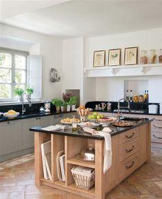 Las 25 mejores ideas sobre cocina de granito negro en - Cocinas con encimeras de madera ...