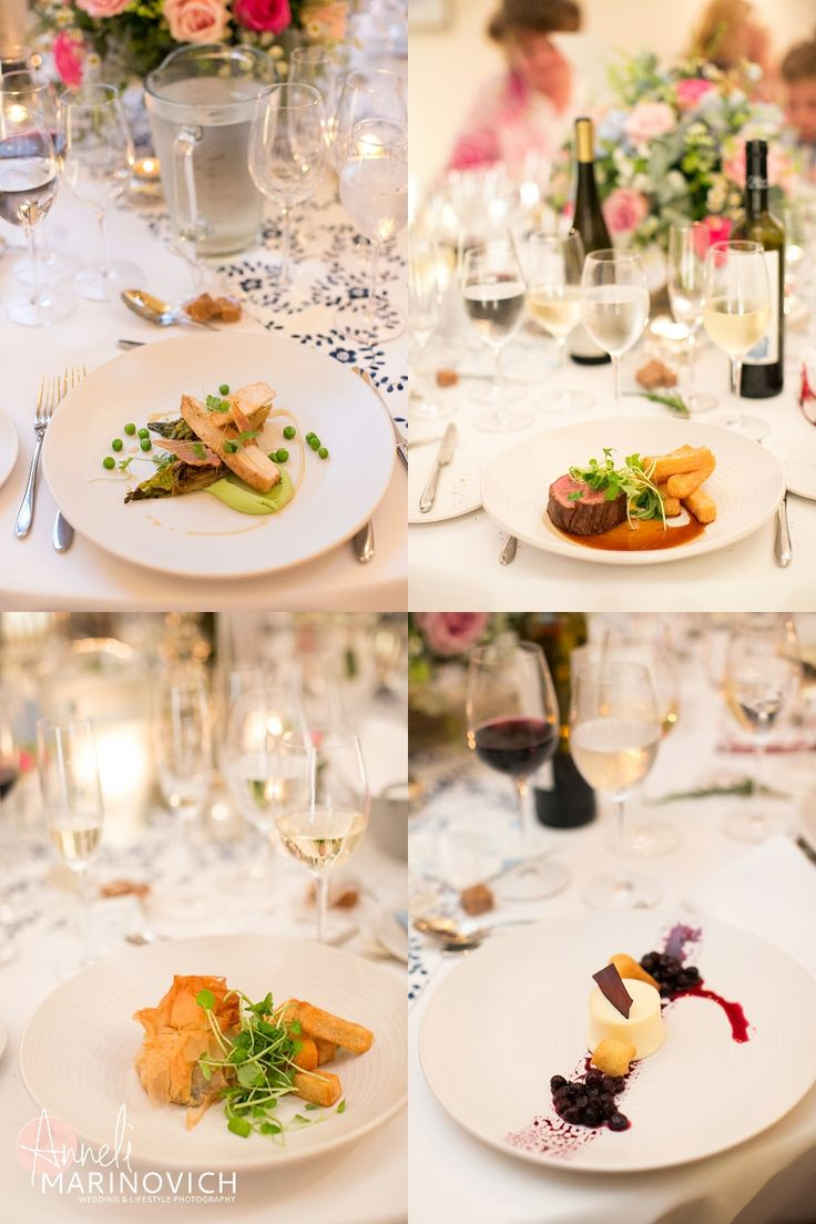 This menu looks great - chicken with lettuce and pea, steak and chips with bernaise sauce, then lemon posset! Beef perhaps a bit heavy for a July wedding...?