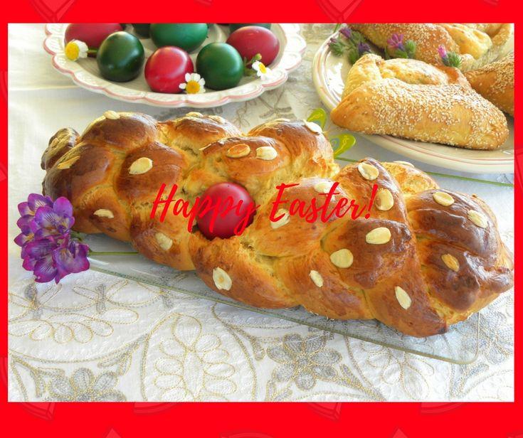 Tsourekia (singular tsoureki) pronounced tsou-RHAE-khia, is a kind of brioche sweet bread which is made in Greece during Easter. #tsoureki #tsourekia #brioche #sweetbread #Easterbread #Greektraditions #Eastertraditions #video #kopiaste
