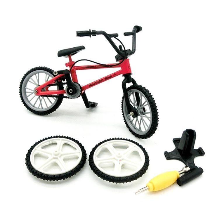 1 PC Alloy mini Finger Mountain Bikes BMX Fixie Bicycle Toy
