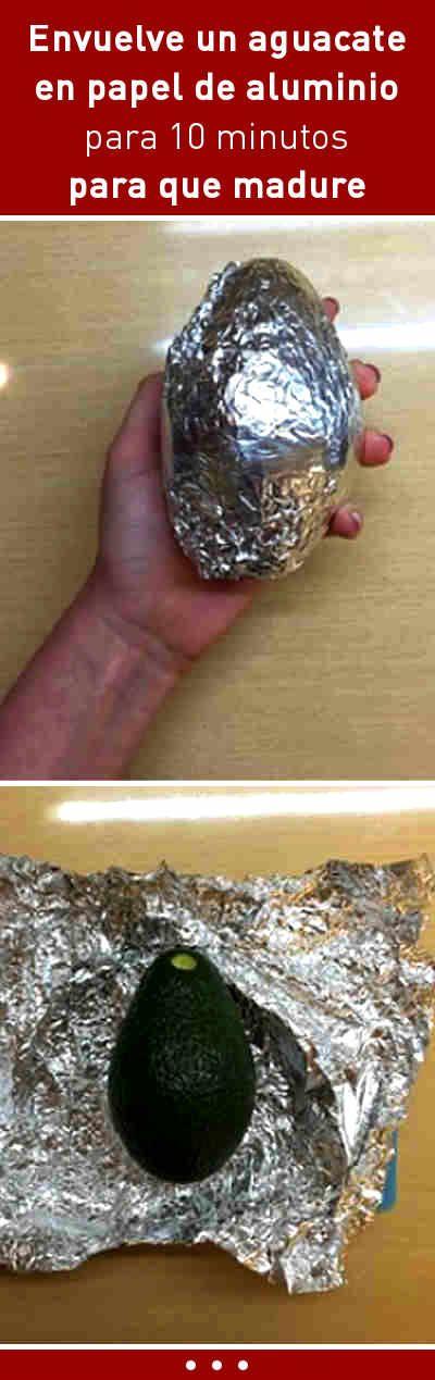 Envuelve un aguacate en papel de aluminio para 10 minutos para que madure #aguacate #cocina #tips
