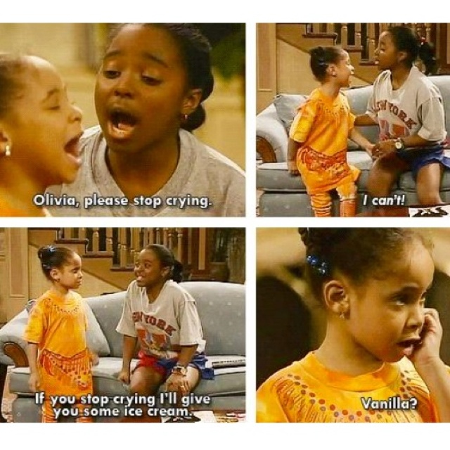 Cosby show :)Believe it or not Oliva is Raven Simone