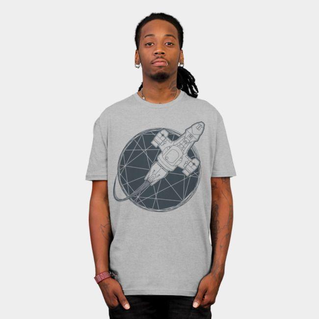 Shining Star. #designbyhumans #star #spaceship #shiny #serenity #firefly #scifi #fantasyart #geometric #minimal #menswear #womensfashion #tshirtdesign #tshirt #teeshirt #apparel