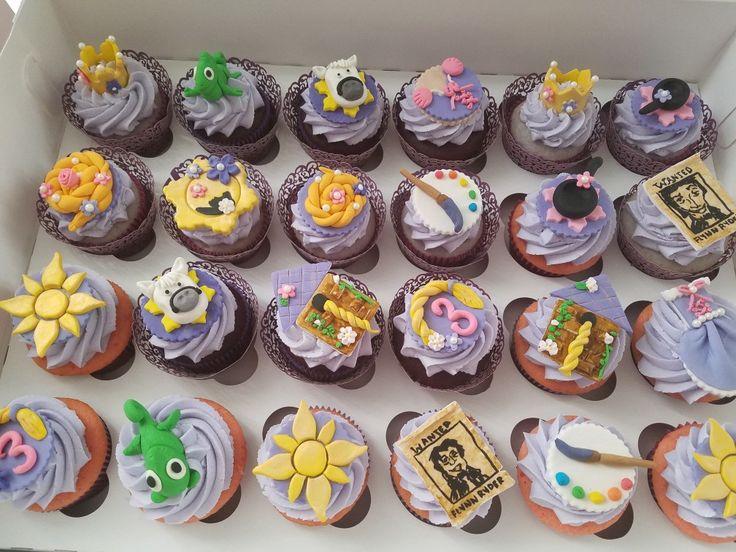 Tangled theme cupcakes
