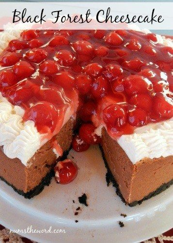 12 Black Forest Cheesecake | 21 Jaw Dropping Cheesecakes You Can Make For Christmas