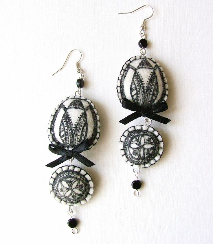 Textil earring by MIMM-textildesign.