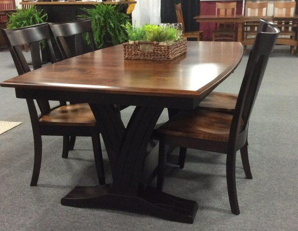 Admirable Paris Trestle Dining Table Dutchcrafters Amish Furniture Home Interior And Landscaping Ologienasavecom