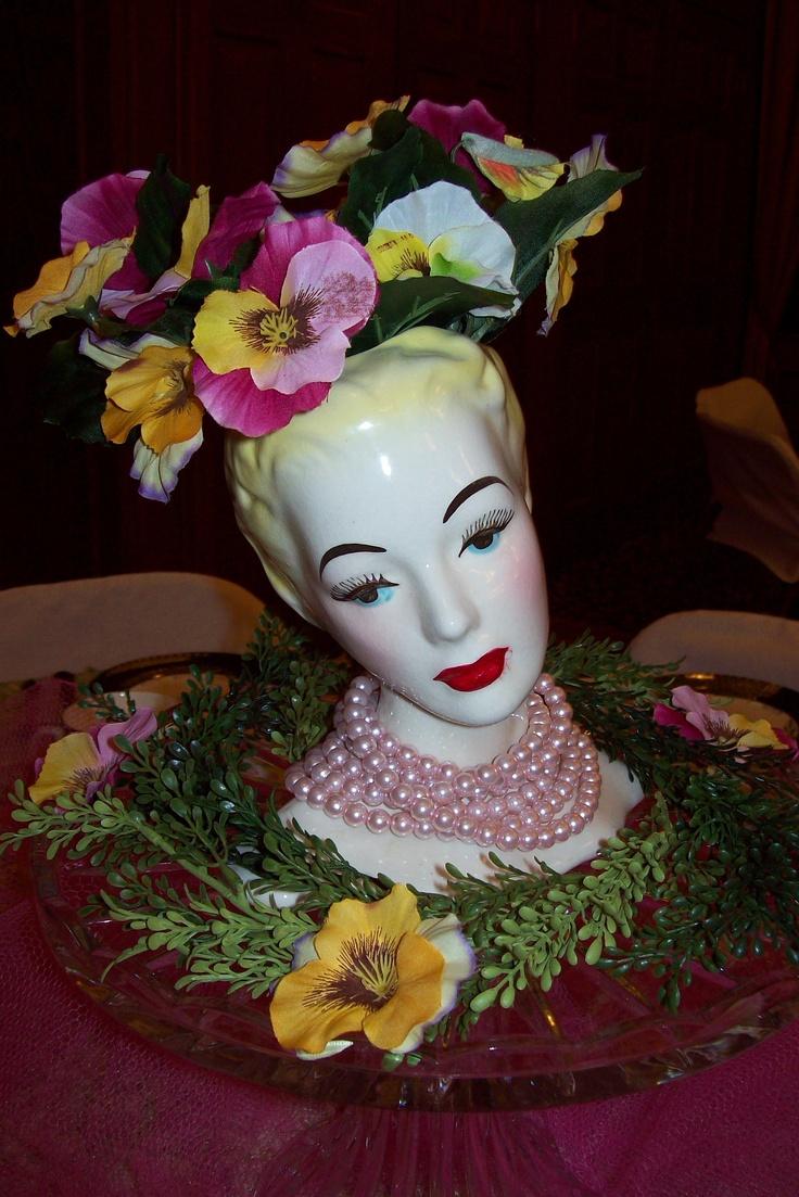 191 best vintage lady head vases images on pinterest half vintage lady head vase on my tea party table reviewsmspy