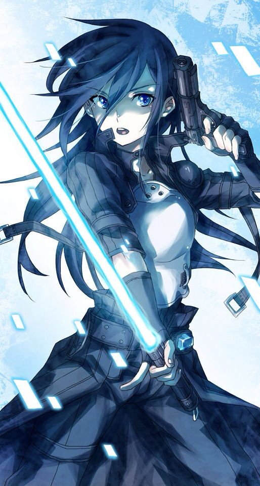I can't believe in season three(Gun Gale Online 2014 activated!) has Kirito as a girl! And OMFG this is him!