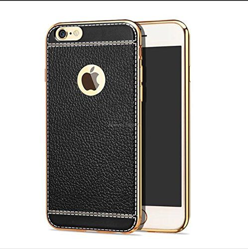 #VINNY™ Premium TPU #leather Look #backcover case for #Apple #iPhone 7 - #BLACK