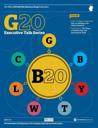 Official G20 Business Summit publication  An In-depth look at some of the major topics that are being addressed at this year's G20 Business Summit.  The CAT Company is the leading publishing company for the G7Summit, G20Leaders, G20 Business, G20 YEA and APEC publications