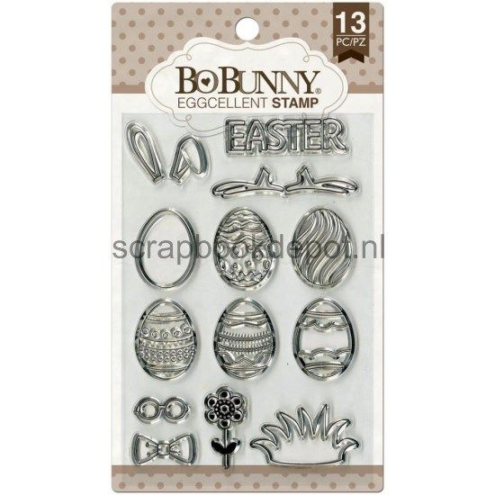 BoBunny clear stamps - Eggcellant