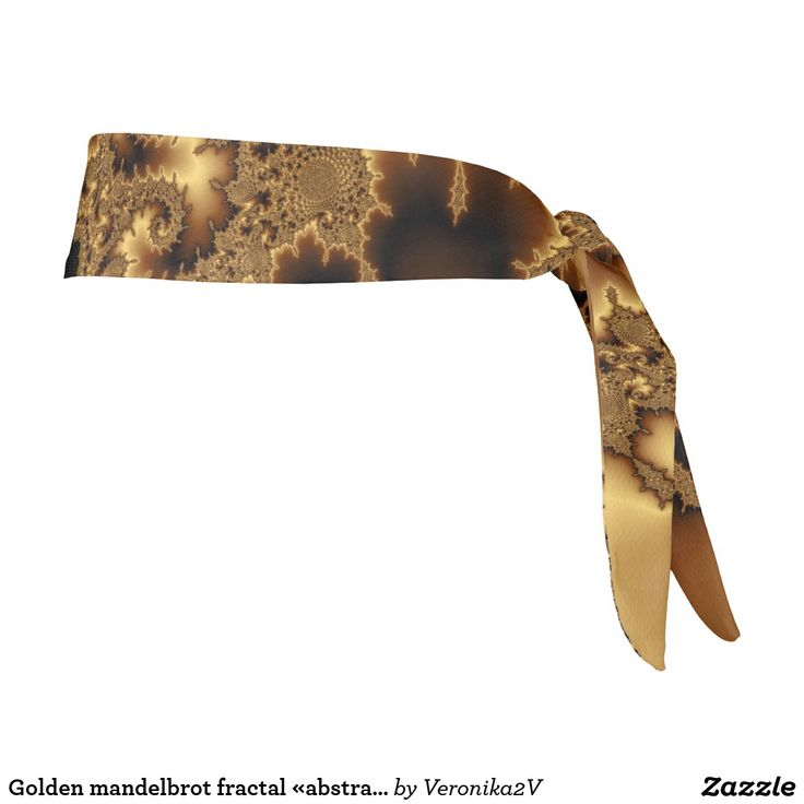 tie headband #headband Computer generated fractal with «golden» silk effect. It looks like beautiful abstract leaves.  #customized  #POD #graphics #artwork #buy #sale #giftideas #zazzle #discount #deals #gifts #shopping #mostpopular #trendy #cool #best #unique #stylish #gorgeous #fractal, #golden #yellow #brown #abstract #pattern #elegant #gold #chic #foliage #silk #mandelbrot