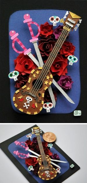 """""""Elements of Manolo"""" Book of Life papercraft art"""