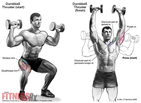 Explosive Power & Fitness - With Dumbbell Thrusters