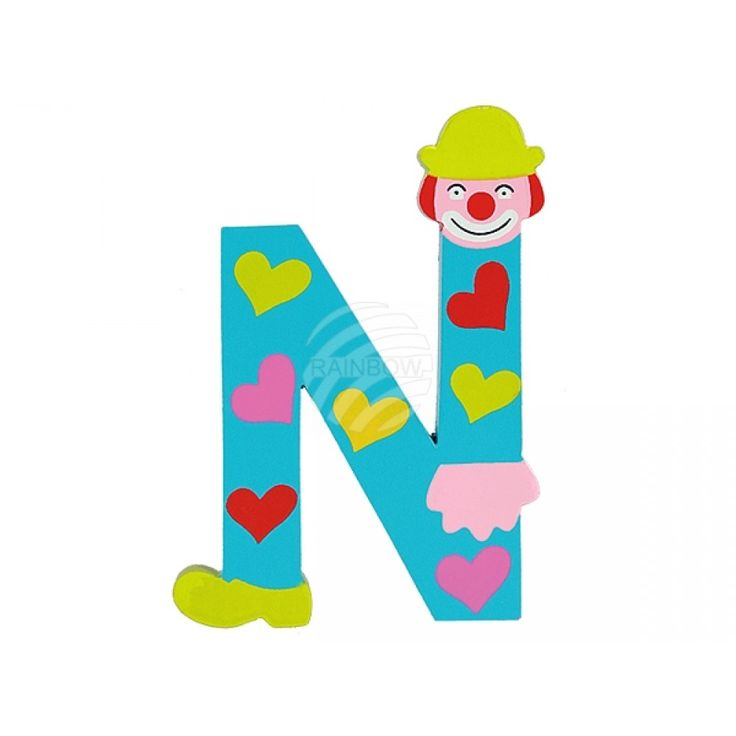 Wooden Letter N from wholesale and import