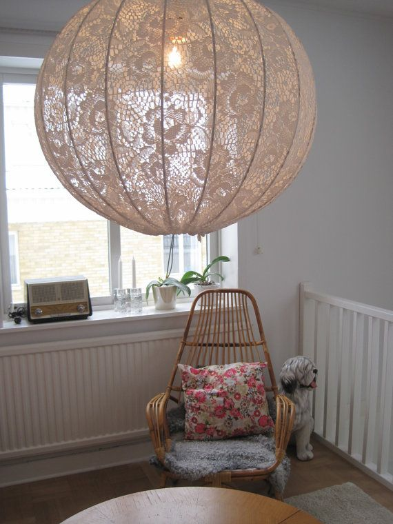 Could I make one?  Lamp  Pendant light made in shabby chic style by Missremaidsweden, $99.00