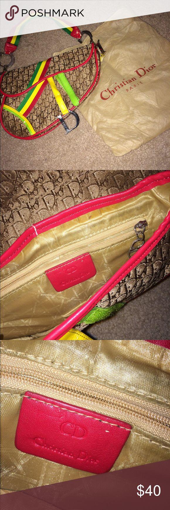 Christian Dior Designer Shoulder Bag Rasta Colored Small Shoulder Bag Christian Dior Bags Shoulder Bags