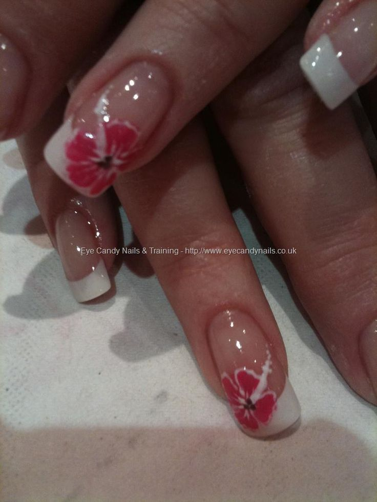 eye candy Nails & Training - Nails Gallery: Pink hibiscus nail art by Elaine Moore on 5 March 2011 at 17:27