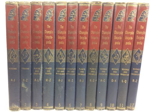 The Champlin Encyclopedia Books Complete 12 Volumes Set 1946 Consolidated Book