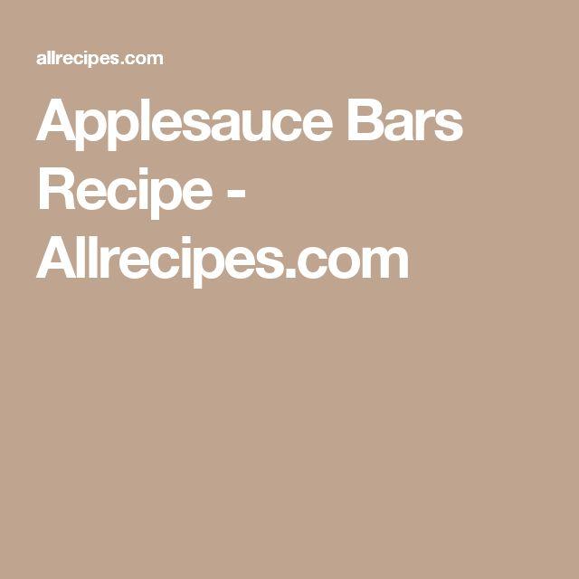 Applesauce Bars Recipe - Allrecipes.com
