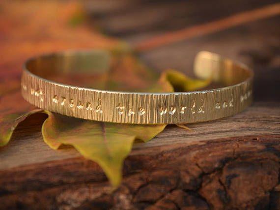 Custom Bracelet Custom Name  Engraved Hammered Cuff with