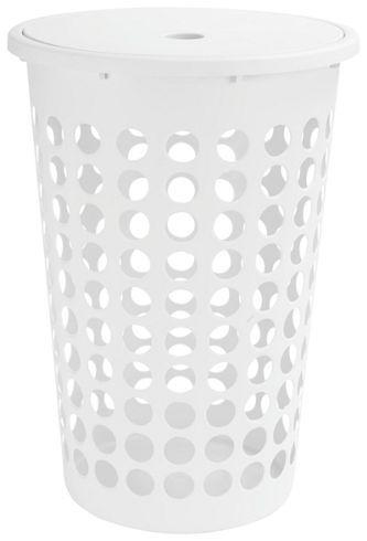 Wäschekorb rund Weiß Kunststoff bei mömax günstig online bestellen