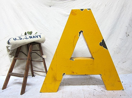 Giant Yellow A.: Letters Monograms, Someday Fantasy, Dream House, Neat Ideas, Letters Numbers, Porcelain Letter, Fantasy House